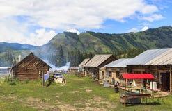 一个村庄在新疆 免版税库存图片