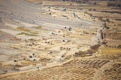 一个村庄的鸟瞰图在坎大哈省 免版税库存照片