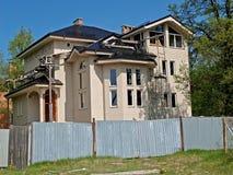 一个村庄的建筑在国家 库存图片