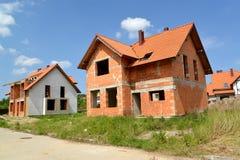 一个村庄的建筑从陶瓷块的 库存照片