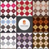一个条板箱的纹理四个颜色正方形  库存照片