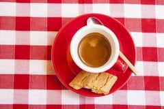 一个杯子意大利浓咖啡 库存照片