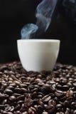 一个杯子浓咖啡 免版税库存图片
