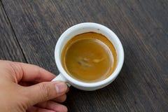 一个杯子浓咖啡 免版税库存照片
