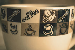 一个杯子浓咖啡 库存图片