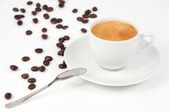 一个杯子热咖啡 免版税库存照片