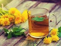 一个杯子蜜蜂花清凉茶 免版税库存图片