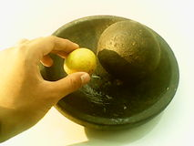 一个柠檬 库存照片