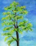 一个树的例证在充分的叶子的 库存图片