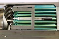 一个核反应堆的燃料标尺的片段 免版税库存图片
