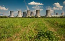 一个核电站的冷却塔 库存图片