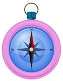 一个桃红色指南针 免版税库存图片