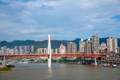 一个桥梁部分Linjiangmen渝中区 免版税库存照片