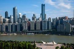 一个桥梁部分Linjiangmen渝中区 库存照片