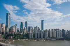 一个桥梁部分Linjiangmen渝中区 库存图片