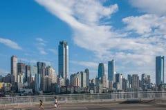 一个桥梁部分Linjiangmen渝中区 免版税图库摄影