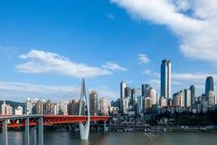 一个桥梁部分Linjiangmen渝中区 免版税库存图片