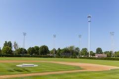 一个棒球场在一个小镇在明尼苏达,美国。 免版税库存图片