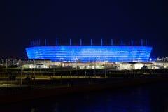 一个橄榄球场的建筑国际足球联合会的世界杯2018年完成 免版税库存图片