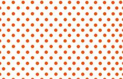 一个橙红圆点有白色背景 免版税库存图片
