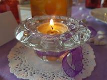 一个欢乐有气味的蜡烛 库存图片