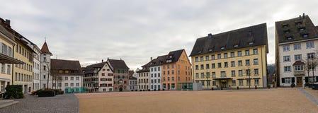 一个正方形在沙夫豪森-瑞士 库存图片