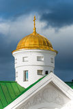 一个正统寺庙的Golden Dome 免版税库存照片
