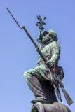 一个步兵的古铜色雕象从争斗的Fredericia 1 免版税库存图片