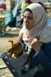 一个母亲的画象从叙利亚的 库存图片