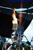一个气球的燃烧器与 库存图片