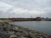一个水坝在丹麦 库存图片
