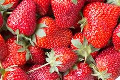 一个水多的成熟草莓的宏观图片 库存照片