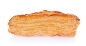 一个油酥点心饼用乳酪 库存照片
