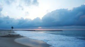 一个沿海海滩在拉各斯 免版税库存图片