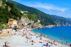 一个海滩在意大利 免版税库存照片