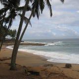 一个海滩的看法在科瓦兰 图库摄影