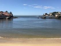 一个海滩的美丽的岸在圣埃斯皮里图巴西 库存图片