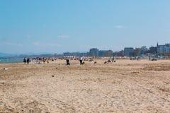 一个海滩在亚得里亚海在里米尼 库存照片