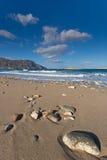 一个海滩在喀帕苏斯岛,希腊。 库存照片