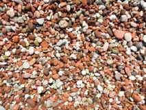 一个海滩的石头背景的 图库摄影