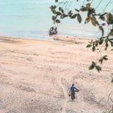 一个海滩 图库摄影