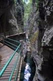 一个深峡谷和水池 库存照片