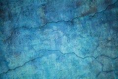 一个混凝土墙的纹理,室外蓝色背景 免版税库存图片