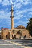 一个清真寺在克利特海岛上的希腊  库存照片