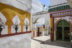 一个清真寺的入口的看法在Tetouan,摩洛哥 免版税图库摄影