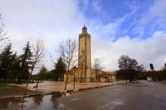 一个清真寺的美丽的景色在一个雨天 图库摄影
