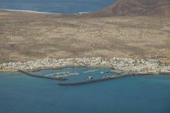 La Graciosa港口 免版税库存图片