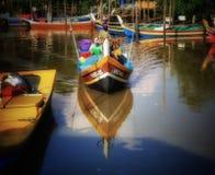一个渔船在瓜拉吉打,马来西亚 库存图片