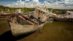 一个渔船的击毁 库存图片