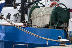 一个渔船的细节 库存图片